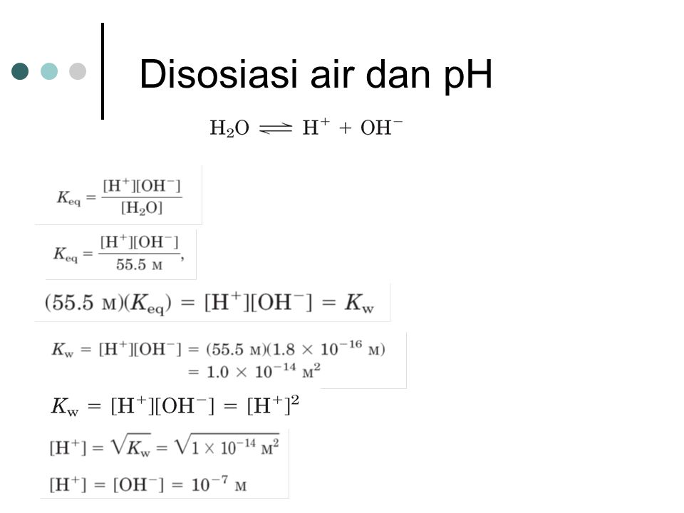 Disosiasi air dan pH