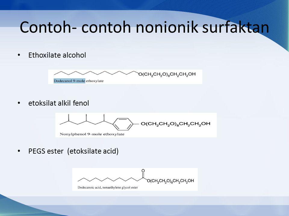 Contoh- contoh nonionik surfaktan