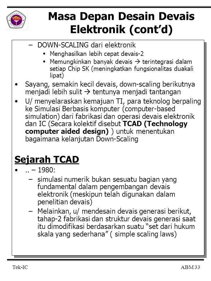 Masa Depan Desain Devais Elektronik (cont'd)