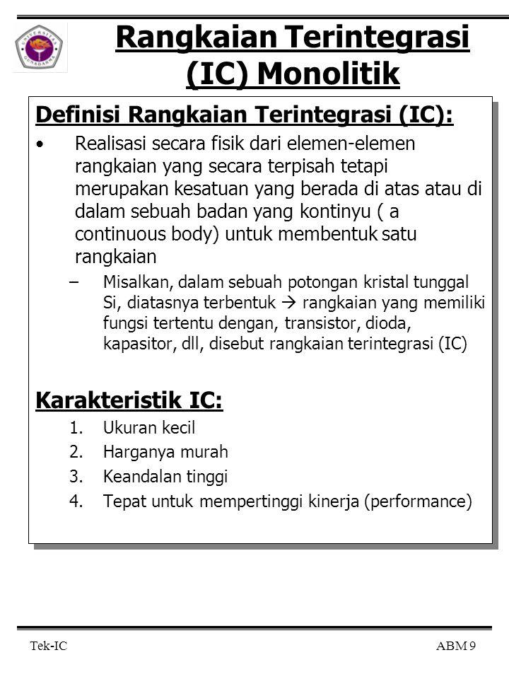 Rangkaian Terintegrasi (IC) Monolitik
