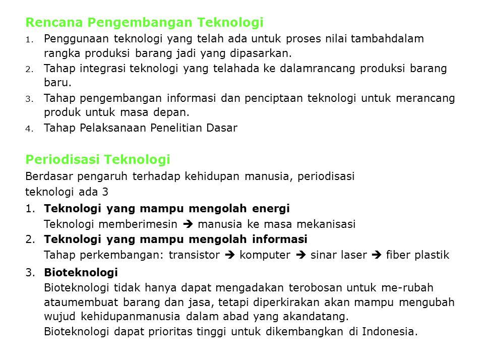 Rencana Pengembangan Teknologi