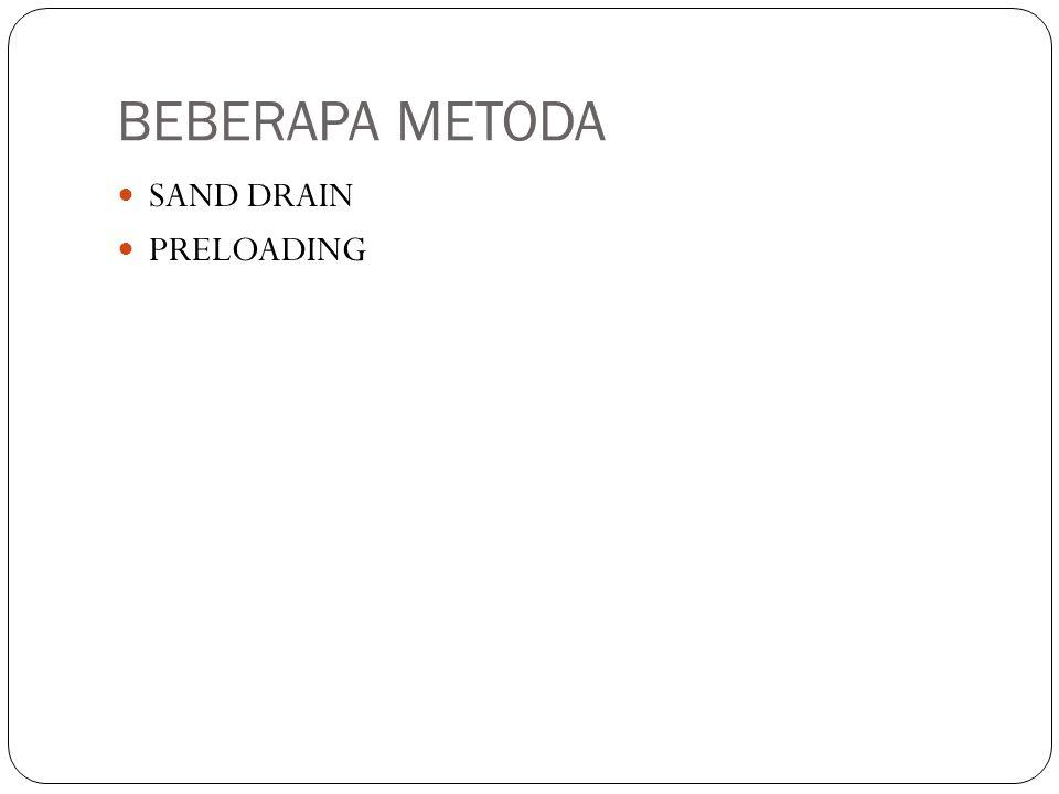BEBERAPA METODA SAND DRAIN PRELOADING