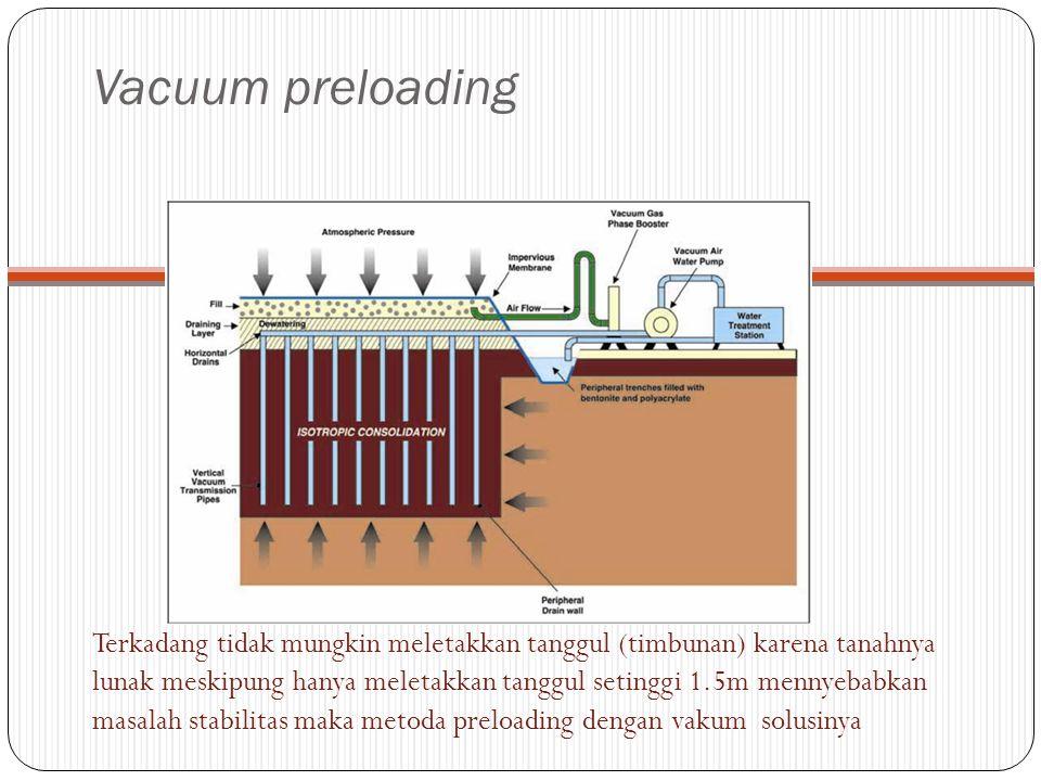 Vacuum preloading