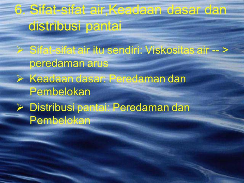 6. Sifat-sifat air,Keadaan dasar dan distribusi pantai