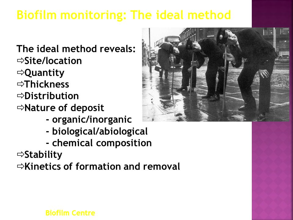 Biofilm monitoring: The ideal method