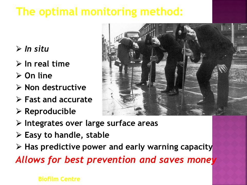 The optimal monitoring method: