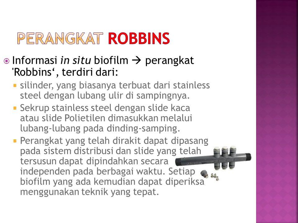 PERANGKAT ROBBINS Informasi in situ biofilm  perangkat Robbins', terdiri dari: