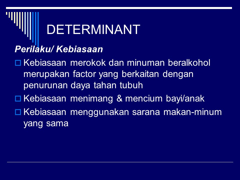 DETERMINANT Perilaku/ Kebiasaan