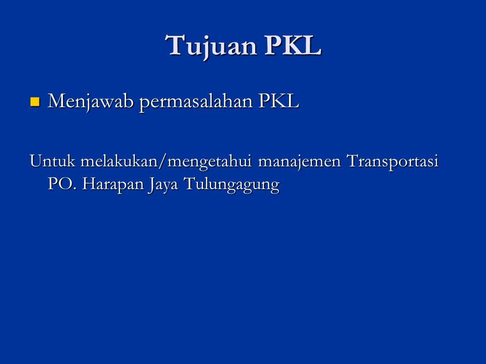 Tujuan PKL Menjawab permasalahan PKL