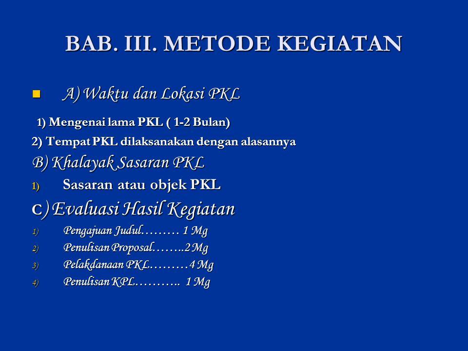 BAB. III. METODE KEGIATAN