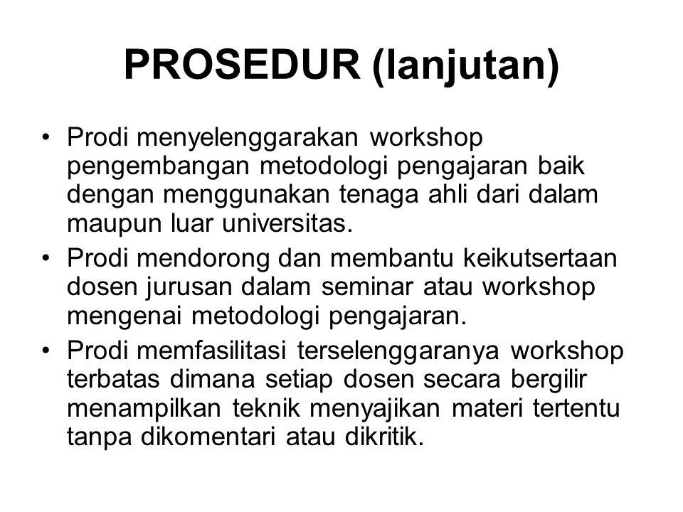 PROSEDUR (lanjutan)