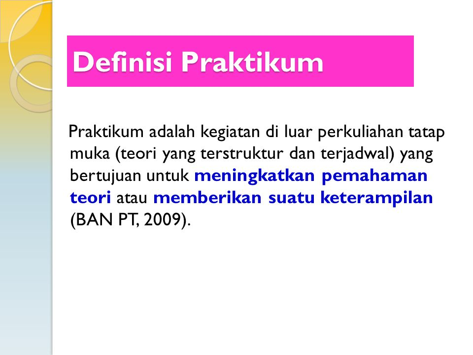 Definisi Praktikum