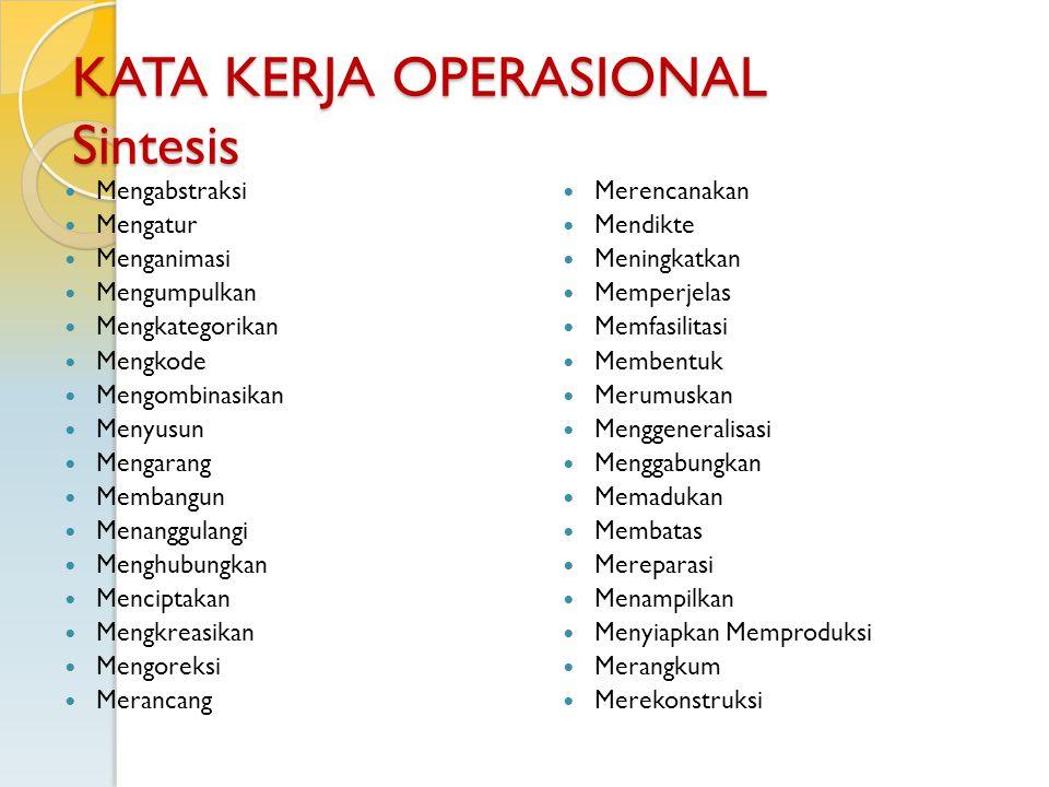 KATA KERJA OPERASIONAL Sintesis