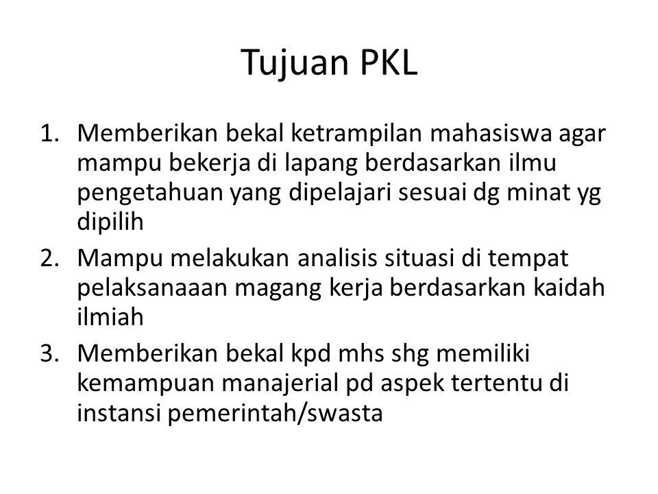 Tujuan PKL