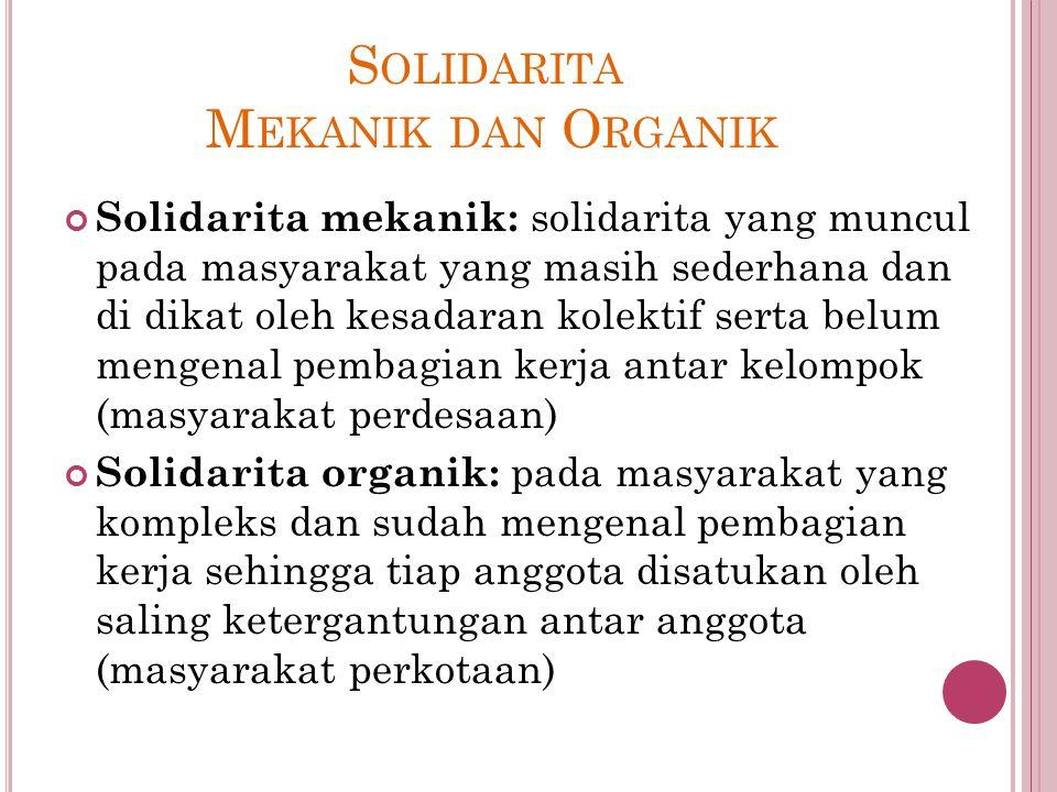 Solidarita Mekanik dan Organik