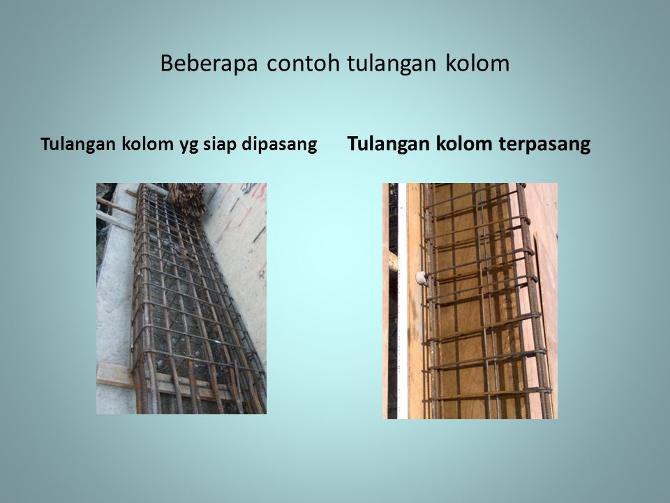 Beberapa contoh tulangan kolom