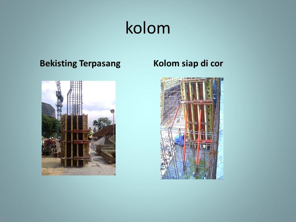 kolom Bekisting Terpasang Kolom siap di cor