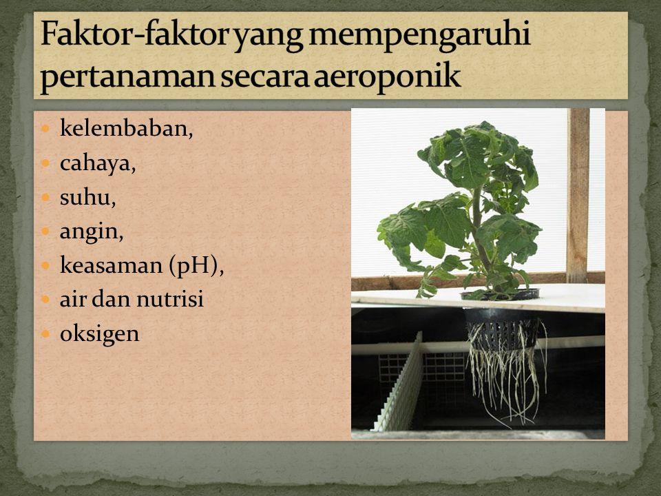 Faktor-faktor yang mempengaruhi pertanaman secara aeroponik