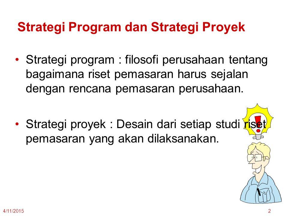 Strategi Program dan Strategi Proyek