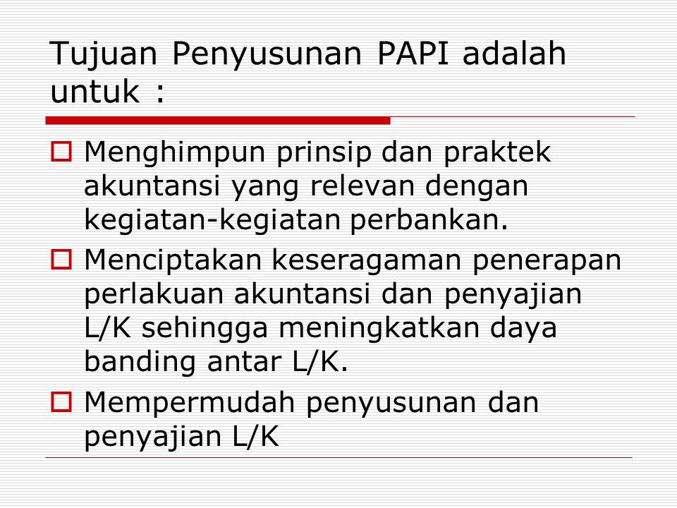 Tujuan Penyusunan PAPI adalah untuk :