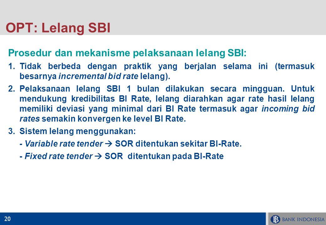OPT: Lelang SBI Prosedur dan mekanisme pelaksanaan lelang SBI: