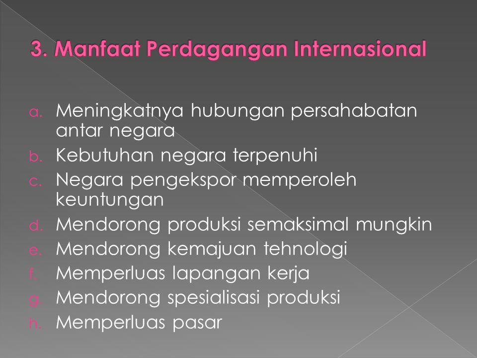 3. Manfaat Perdagangan Internasional