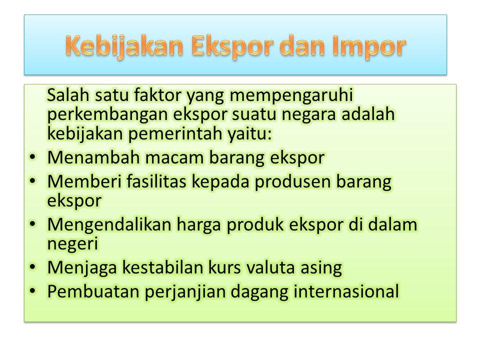 Kebijakan Ekspor dan Impor