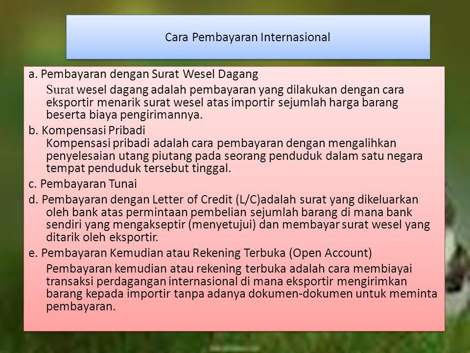 Cara Pembayaran Internasional