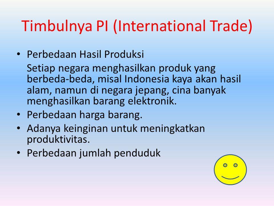 Timbulnya PI (International Trade)