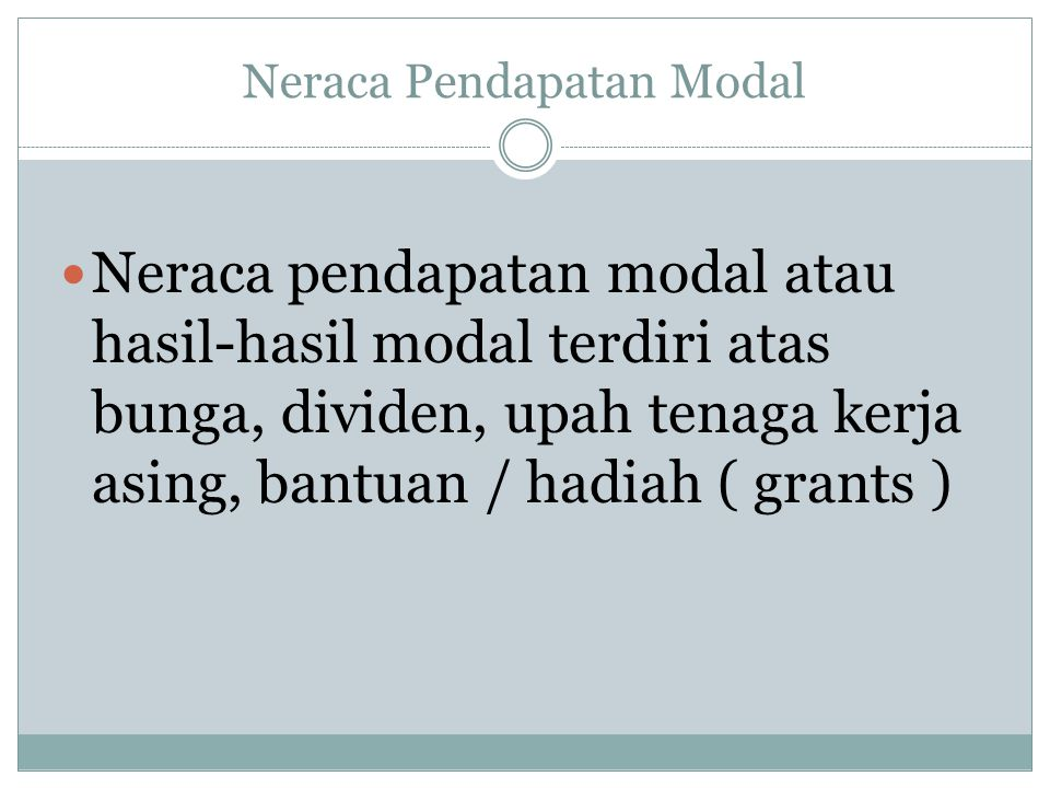 Neraca Pendapatan Modal