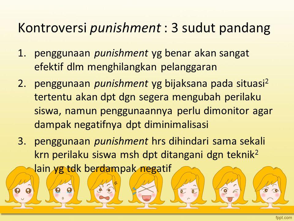 Kontroversi punishment : 3 sudut pandang