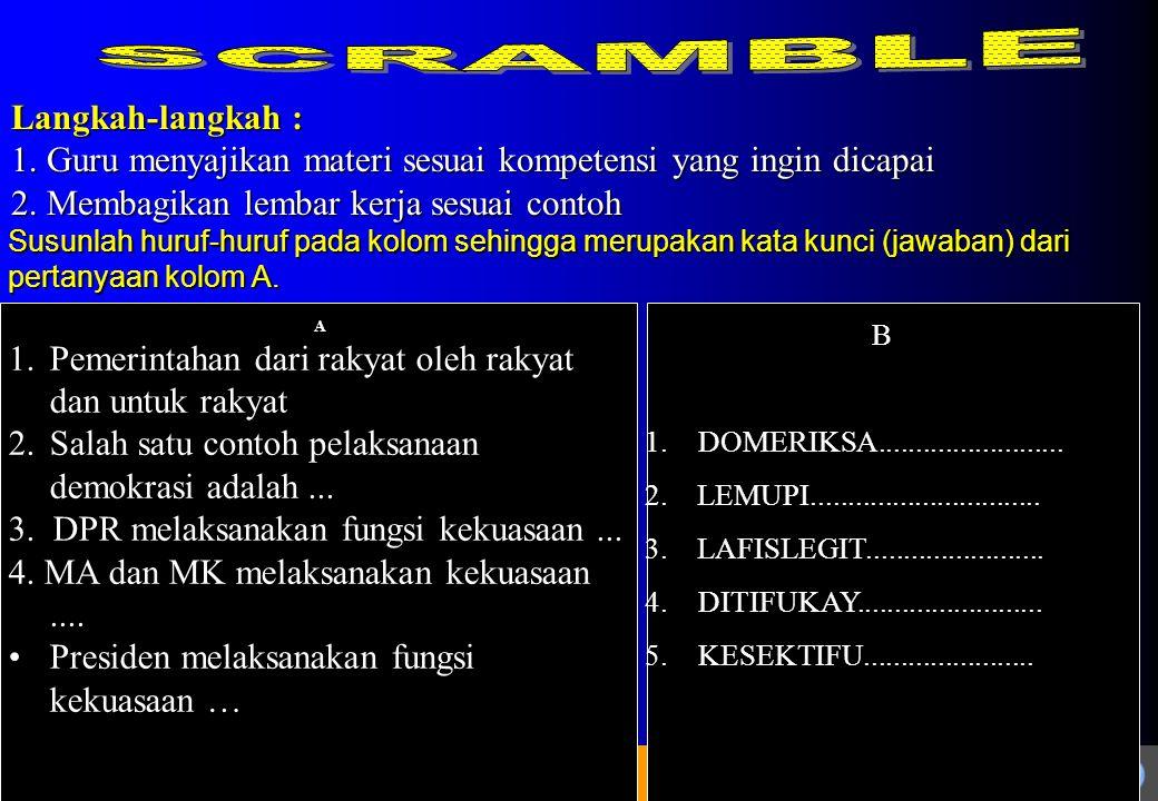 SCRAMBLE Langkah-langkah :