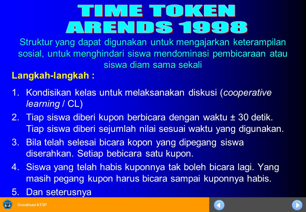 TIME TOKEN ARENDS 1998.