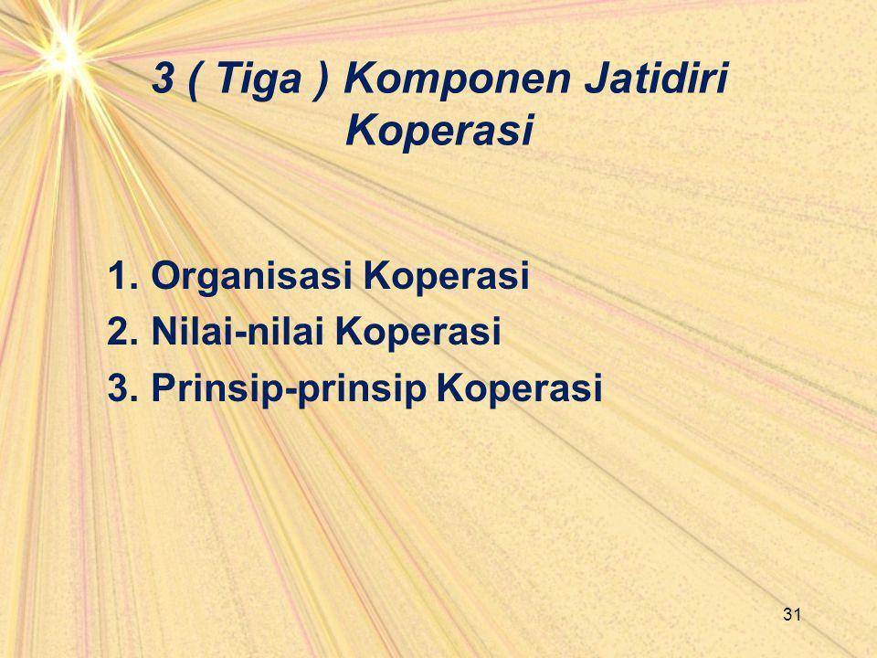 3 ( Tiga ) Komponen Jatidiri Koperasi