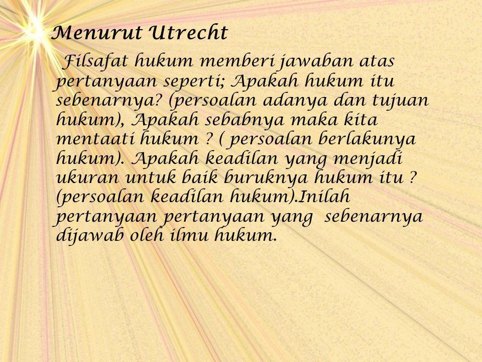 Menurut Utrecht