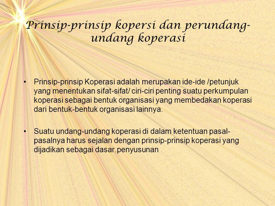 Prinsip-prinsip kopersi dan perundang-undang koperasi