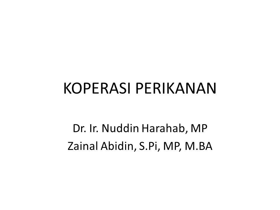 Dr. Ir. Nuddin Harahab, MP Zainal Abidin, S.Pi, MP, M.BA
