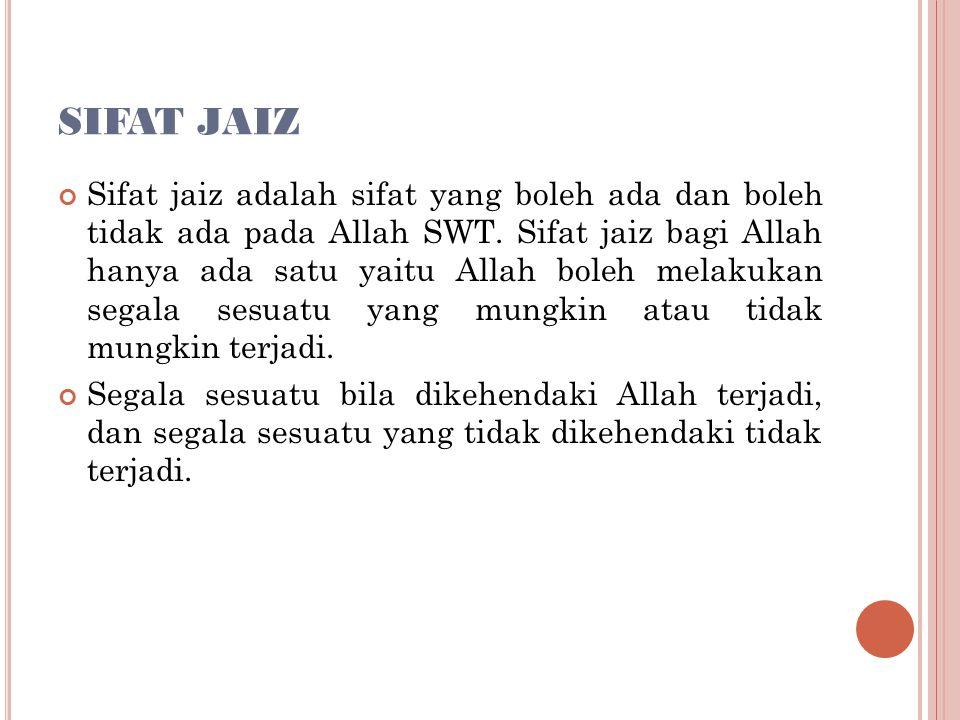 SIFAT JAIZ