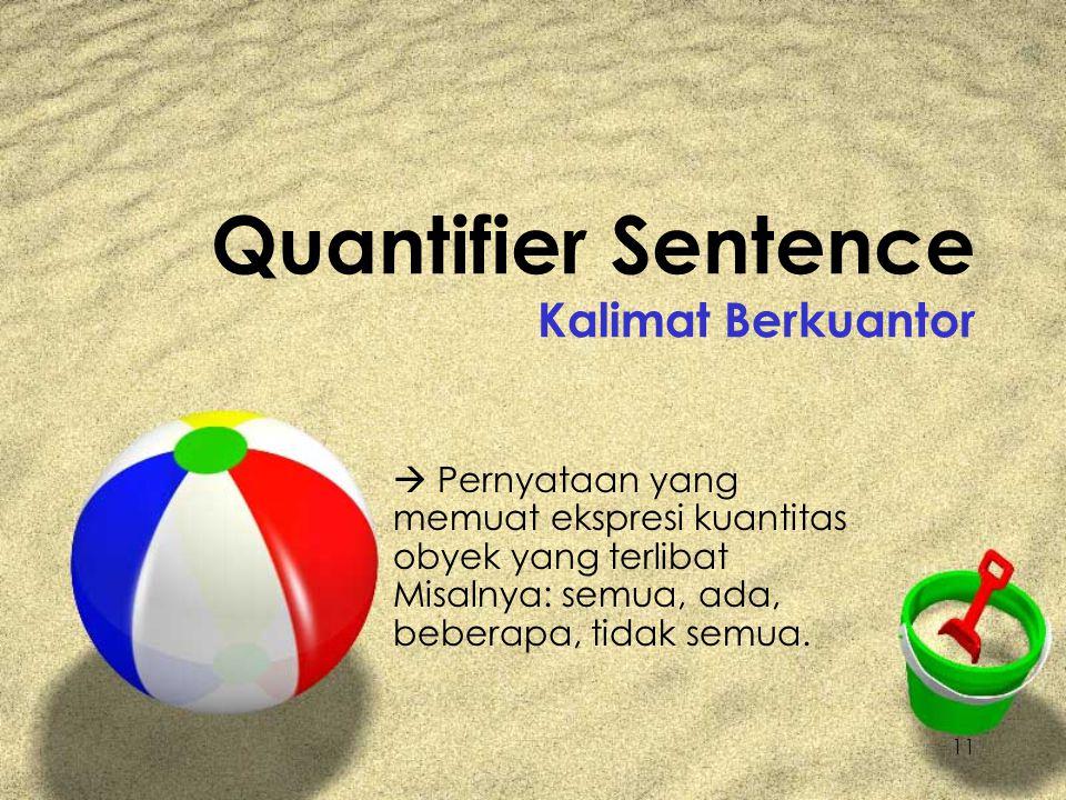 Quantifier Sentence Kalimat Berkuantor