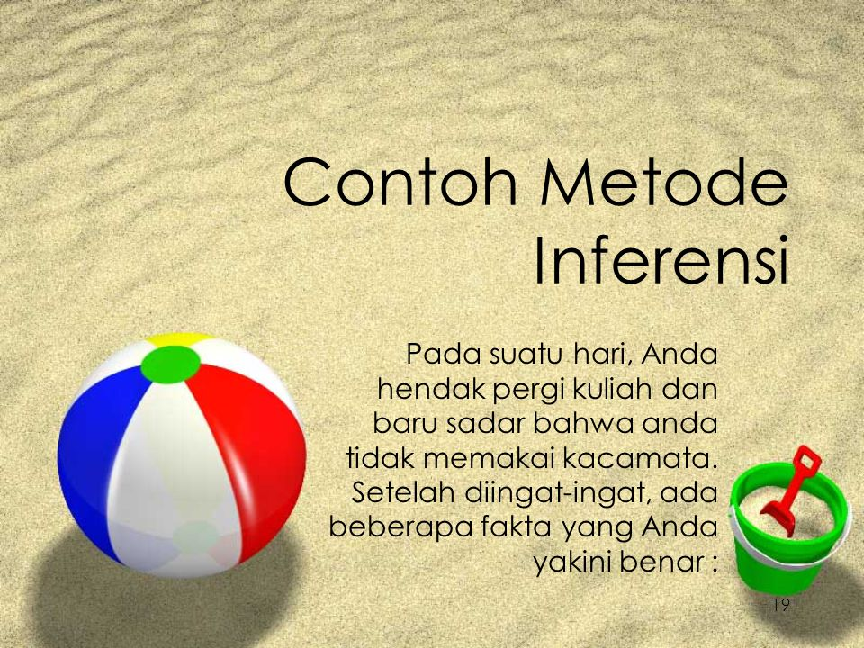 Contoh Metode Inferensi