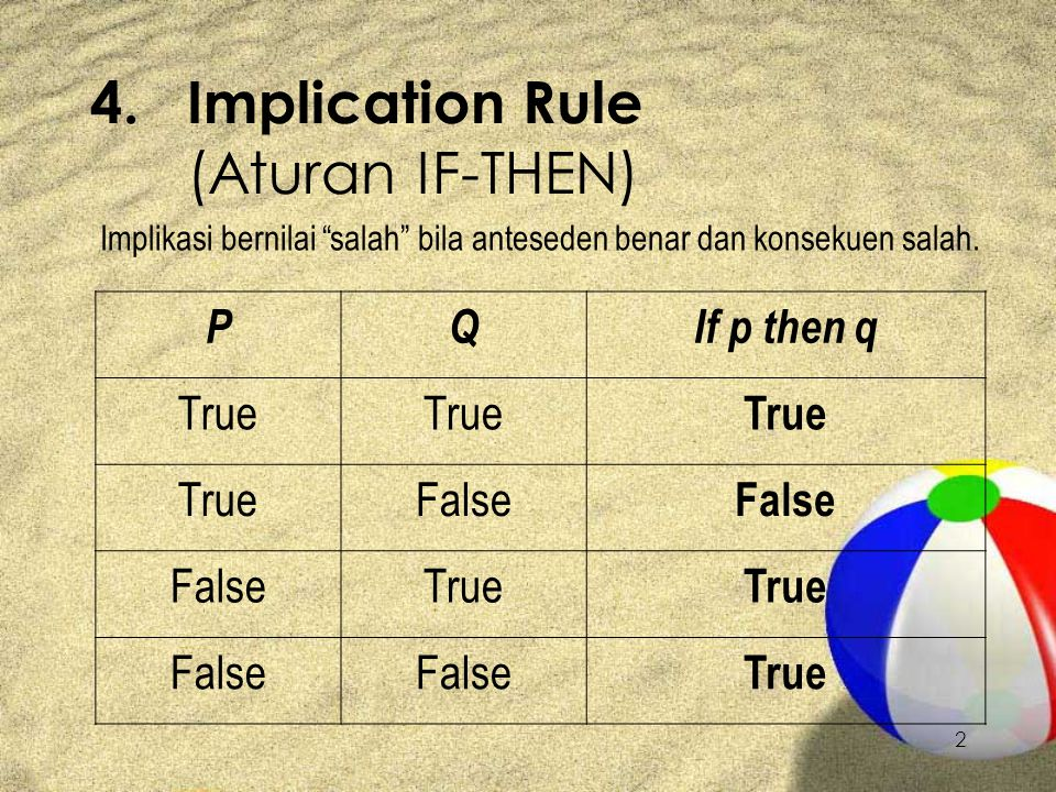 4. Implication Rule (Aturan IF-THEN)