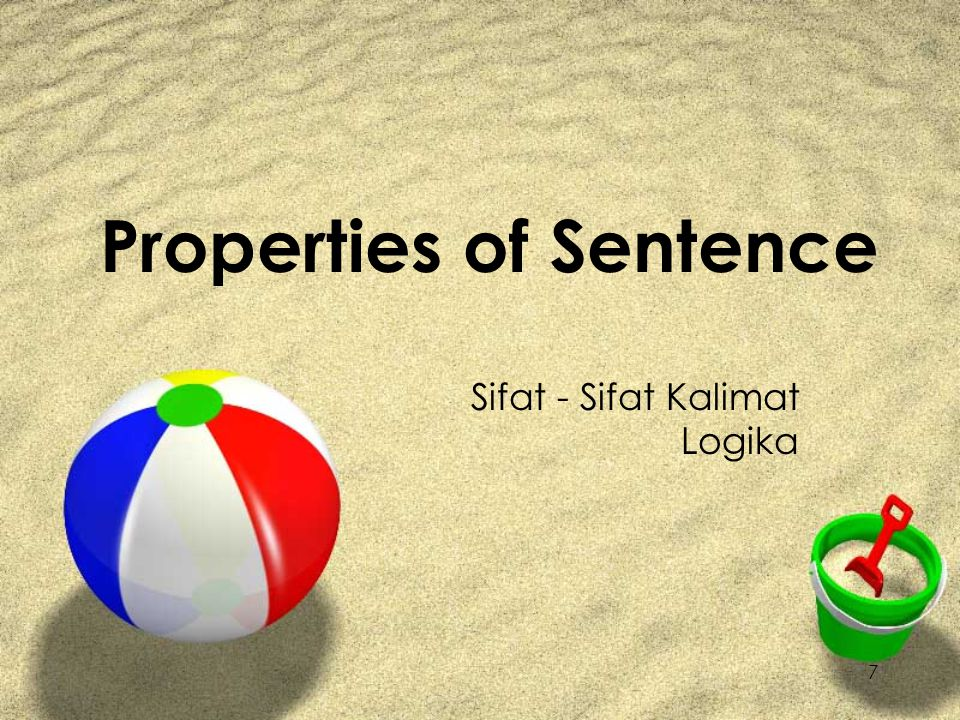 Properties of Sentence