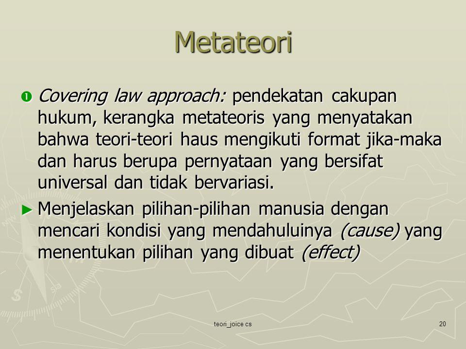 Metateori