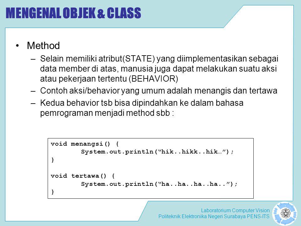 MENGENAL OBJEK & CLASS Method