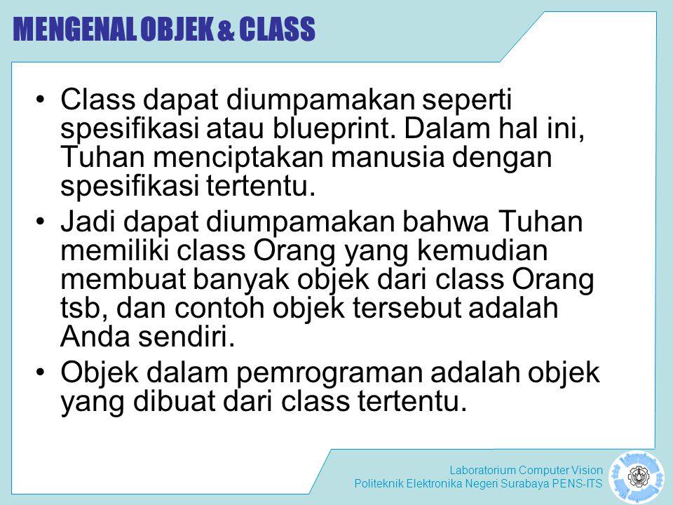 MENGENAL OBJEK & CLASS