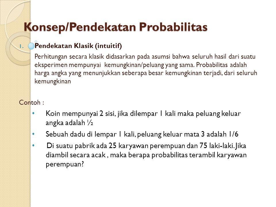 Konsep/Pendekatan Probabilitas