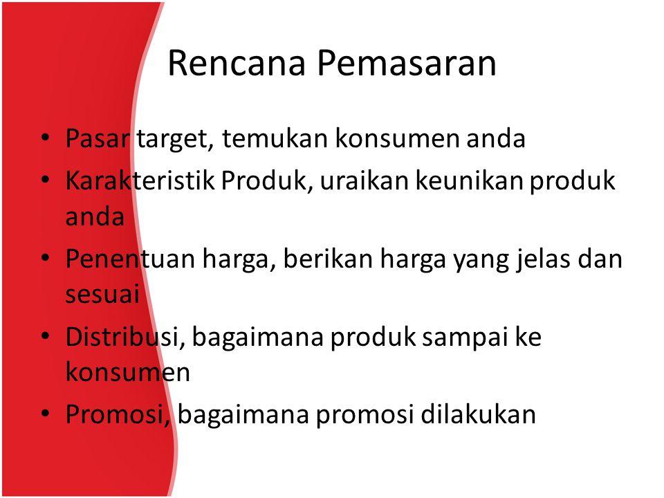 Rencana Pemasaran Pasar target, temukan konsumen anda