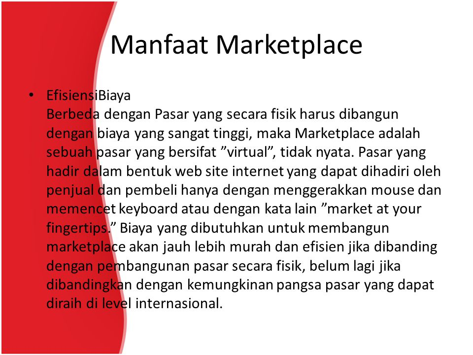 Manfaat Marketplace