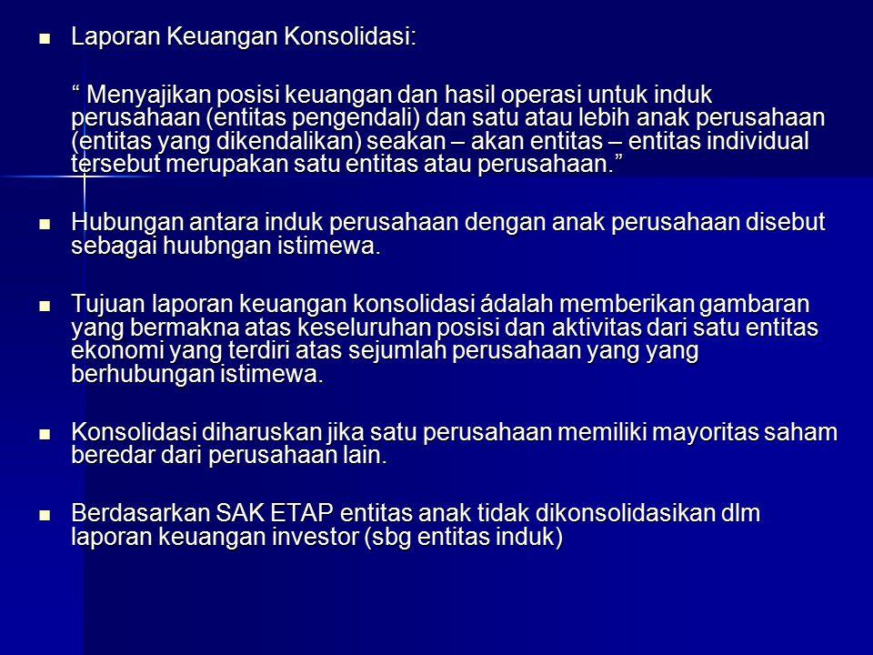 Laporan Keuangan Konsolidasi:
