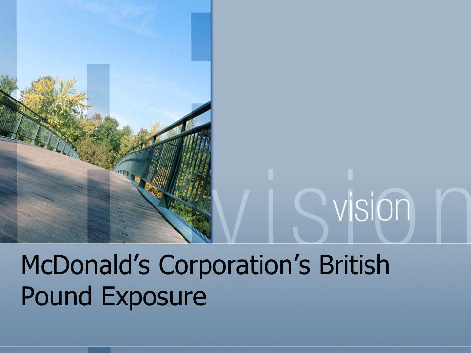 McDonald's Corporation's British Pound Exposure